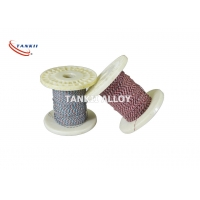 China 2*0.711mm Fiberglass Insulated Thermocouple Cable Oxidized Surface wholesale