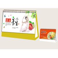 Quality Custom Desk Calendar Printing Services Matt Paper Material 3mm Board Frame for sale