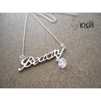 China 925 sterling silver necklace with zircon W-VD186 wholesale