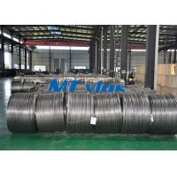China TP304L / 1.4306 Small Diameter Stainless Steel Coiled Tubing For Cable Industry wholesale