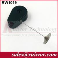 China RUIWOR RW1019 Drop-shaped Anti-theft Recoiler with 22mm Metal Round Clinging Plate End wholesale