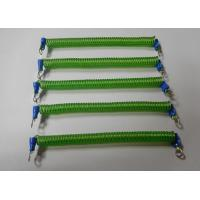 China 120MM Green Srping Tool Coiled Stretchy Tether w/Screw Terminal Connectors wholesale