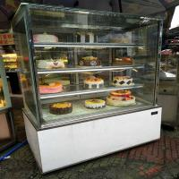 China Pastry Dessert Cake Display Chiller With Back Sliding Door Air Cooling System wholesale