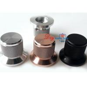 China 30X25X22 Aluminium AMP volume potentiometer Knob Black 6.0mm hole wholesale