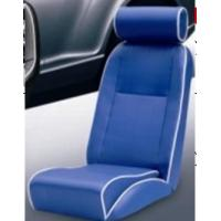 China Universal Blue PVC Sport Racing Seats With Deep Thing Bolsters / Bucket Car Seat wholesale