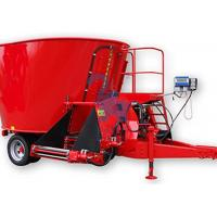 China Large Livestock Feed Mixers , Upright Feed Grinders And Mixers With Loading Shovel wholesale