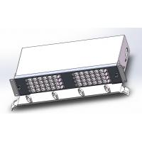 "Quality 96 Cores Fiber Optic Termination Box Drawer Type 19""Subrack  Loaded With Duplex LC Adapters for sale"