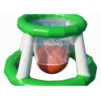 China Funny Inflatable Water Toys , Airtight Floating Inflatable Water Basketball Game wholesale