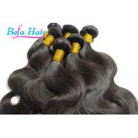 China Natural Black Cambodian Hair Bundles 20-22 Inch Hair Extensions With Full Cuticles wholesale