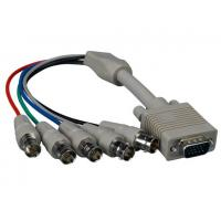 China VGA HD15 Male to 5-BNC RGBHV Female Monitor Cable wholesale