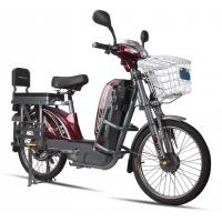 China 17'' Tube Tires Green Power E Bike Dark Red Battery Powered Bikes For Adults wholesale