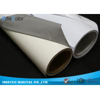 China Aqueous Inkjet Media Supplies Grey Base Waterproof Self - Adhesive Matte PVC Vinyl roll wholesale