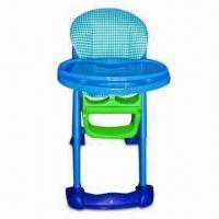 China Baby High Chair with Five-point Harness and Four Locking Casters on sale