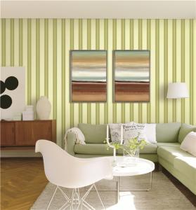 China 70cm width fireproof waterproof mould proof stripe styles PVC vinyl wallpaper wholesale