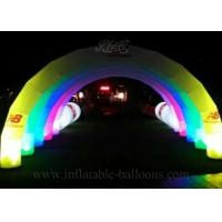 China 10m Custom Inflatable LED Arch Logo Printing Inflatable Airblown Archway wholesale