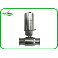 China Elegant Design Sanitary Ball Valves Stainless Steel , Pneumatic Actuated Ball Valve wholesale