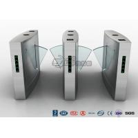 China Fingerprint Reader Turnstile Barrier Gate , Acrylic Flap Barrier Turnstile wholesale