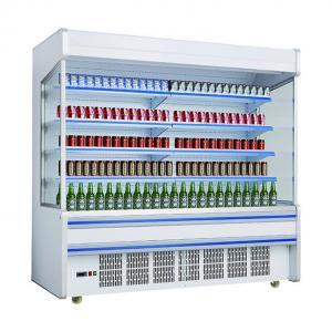 China Supermarket Multideck Refrigerator Plug In System / Vegetable And Fruit Showcase Cabinet wholesale
