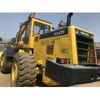 China 260.2HP Komatsu WA470 Second Hand Wheel Loaders , Used Compact Track Loaders on sale