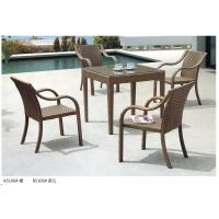 China modern pe rattan boite dining table chair outdoor furniture set wholesale