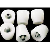 China Flexible White Silicone Rubber Stoppers One Hole Texture Surface Finishing wholesale