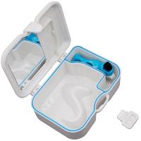 Buy cheap Dental Storage box Denture False Teeth Case With Mirror and Clean Brush from wholesalers