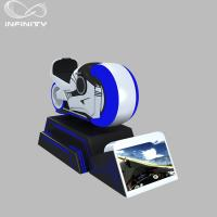 China 1 Person Online Race 9D VR Motorcycle Car Driving Simulator Black Or White Color wholesale