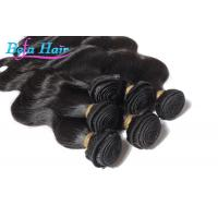 China 7A Grade Natural black Peruvian Human Hair Extensions Wefts For Ladies wholesale