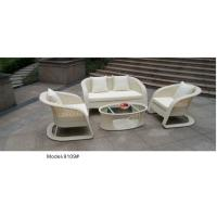China 4pcs Rattan  furniture outdoor flower weave pattern wicker sofa set with cushion-9019 wholesale