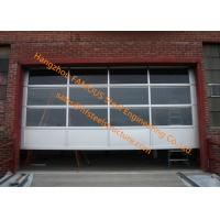 China Motorized Aluminum Insulated Tempered Glass Full View Overhead Garage Door wholesale