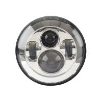 China Black Frame Motorcycle Jeep Wrangler Headlights with High / Low Beam 6000K wholesale