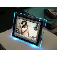 China Tansparent Led Lighted Acrylic Photo Frames For Cards , Electrical Insulated wholesale