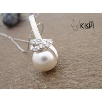 China OEM / ODM service offer 925 sterling silver gemstone pendant with immitation pearl W-VB817 wholesale
