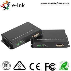 China DVI KVM Fiber Optic Extender , DVI 1.0 Protocol , 1Ch Analog Audio, Support KVM, SFP port (3G) wholesale