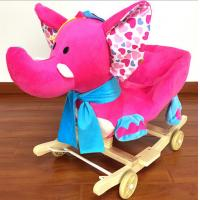 China Lovely Pink Green Animal Baby Rocking Chair Toy Elephent Eco - Friendly 60*33*55cm SGS ITS wholesale