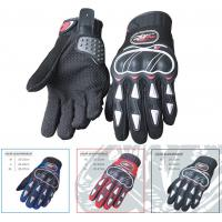 China Microfiber Leather Motorcycle Riding Gloves Grey Insulated Motorcycle Gloves wholesale