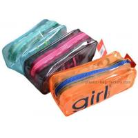 China Orange / Green Household Storage Bags With Nylon Zipper For Gadget Accessories wholesale