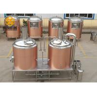 China 500 Litre Small Brewery Equipment , Brewpub Copper Beer Brewing Equipment wholesale