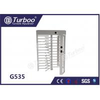 China CE Approved Full Height Turnstile Revolving Door 30 Persons / Min Transit Speed wholesale