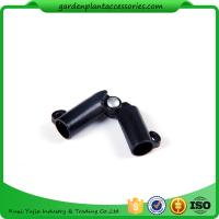 China Sturdy Plastic Garden Stake Connectors Black Color Adjustable Angle 0 - 170 Degrees wholesale