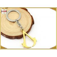 China Hangbag Accessories Metal Key Ring , Sliver Or Golden Plating Bulk Keychain Rings on sale