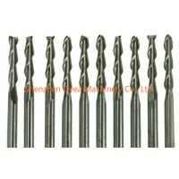 China 10x 1/8 Carbide Flat Nose End Mill CNC Router Bits Double Flute Spiral 17mm by china-oyea.com on sale