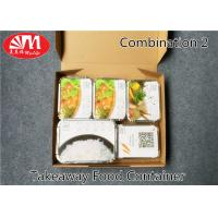 China 1360ml Volume Aluminium Foil Takeaway Food Containers 5 Compartments Various Size on sale