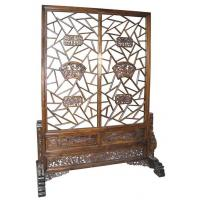 China Luxury Vintage Rose Wood Decorative Folding Screens For Restaurant Living Room wholesale