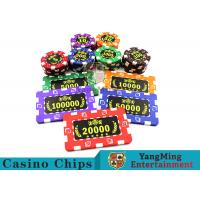 China ABS Plastic Material Casino Poker Chips75 * 45mm For Roullette Games wholesale