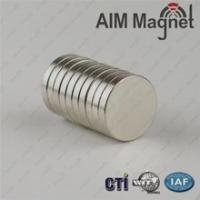 Quality magnet of ndfeb permanent sintered magnet 15mmx1mm for sale