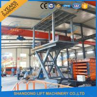 China 5T 3M Hydraulic Car Lift for Home Garage Basement 2 Car Parking Scissor Lift CE on sale