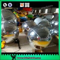 China Festivals Inflatable Event Mirror Ball With Sliver Color , Inflatable Mirrored Sphere wholesale