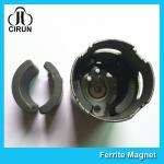 China C5 Grade Permanent Ferrite DC Motor Magnet High Performance R13.15*R8.8*H21mm wholesale