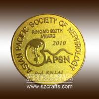 China high emboss golden commemorative coin, custom coins for sale wholesale